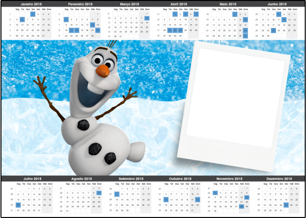 Convite Calendário 2015 Olaf