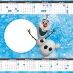 Convite Calendário 2015 Olaf Frozen