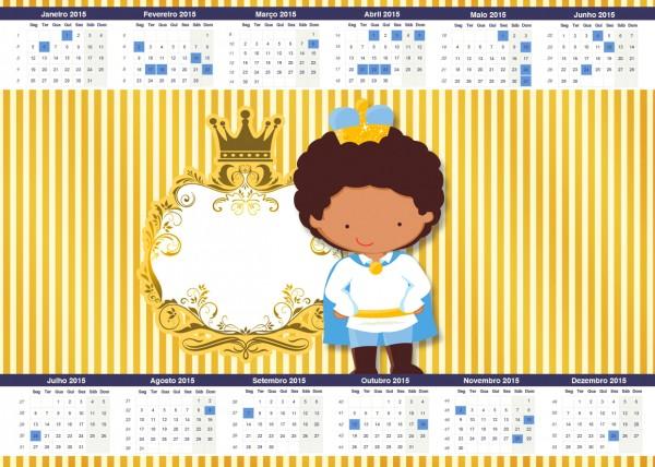 Convite Calendário 2015 Príncipe Afro