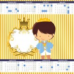 Convite Calendário 2015 Príncipe Moreno
