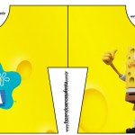Convite Camisa Bob Esponja - Um Herói Fora D'Água