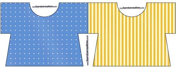 Convite Camisa Fundo Príncipe Azul e Dourado