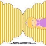 Convite Cupcake Princesa Loira