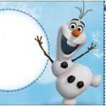 Convite Ingresso Olaf Frozen