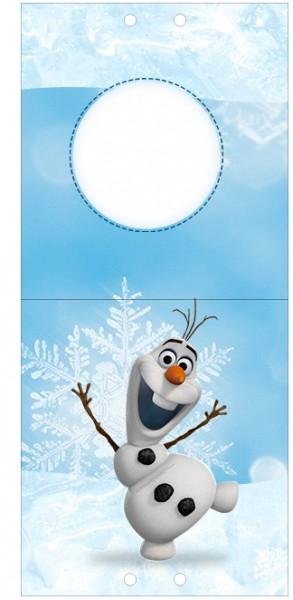 Convite Pirulito Olaf Frozen