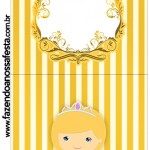 Convite Pirulito Princesa Loira