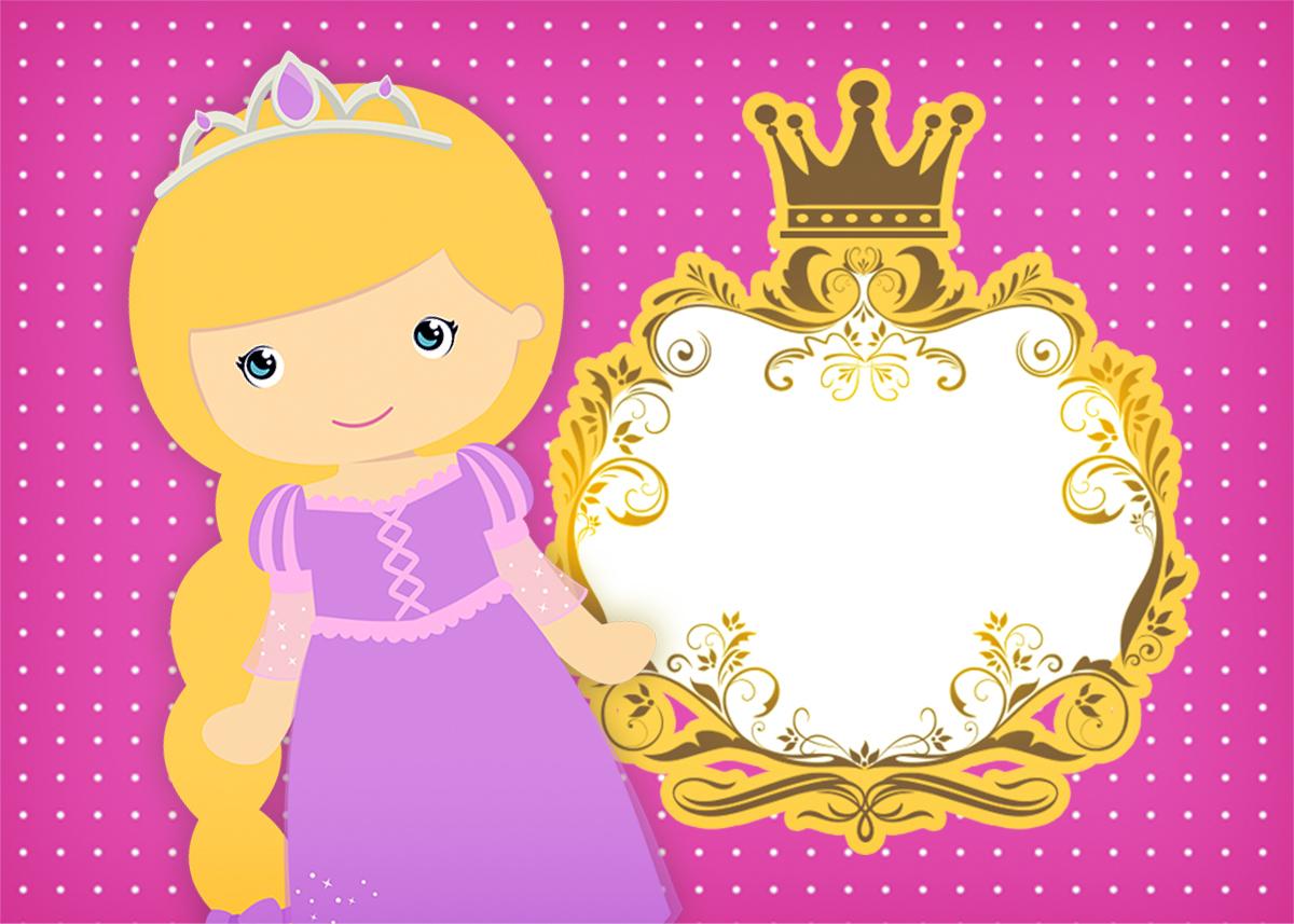 Convite Princesa Loira 2 - Fazendo a Nossa Festa