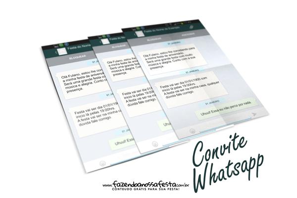 Convite Whatsapp personalizado