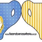Convite Xícara Fundo Príncipe Azul e Dourado
