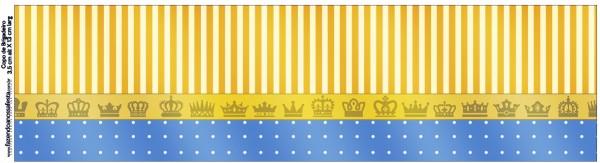 Copinho de Brigadiero Fundo Príncipe Azul e Dourado