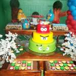Bolo Festa Angry Birds do Bruno