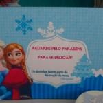 Cartão Agradecimento Festa Frozen da Sofia