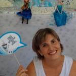 Plaquinha Divertida Festa Frozen da Sofia