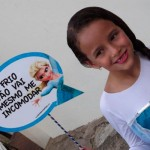 Plaquinhas Festa Frozen da Isabela