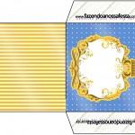 Envelope CD DVD Fundo Príncipe Azul e Dourado