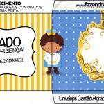 Envelope Cartão Agradecimento Príncipe Afro