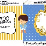 Envelope Cartão Agradecimento Príncipe Moreno