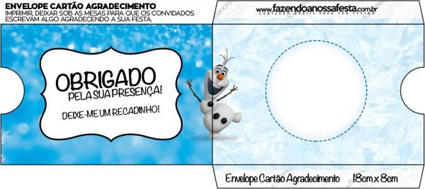 Envelope Cartão Olaf Frozen