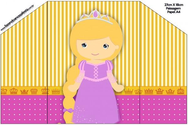 Envelope Convite Princesa Loira