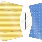 Envelope Fritas Fundo Príncipe Azul e Dourado