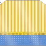 Envelope Fundo Príncipe Azul e Dourado