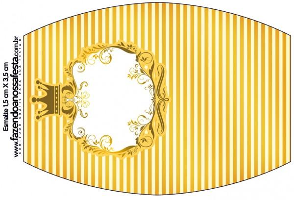 Esmalte Fundo Príncipe Azul e Dourado