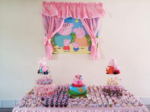 Festa Peppa Pig da Nicoly Painel