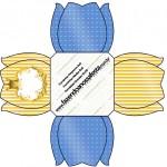 Forminhas Docinhos Fundo Príncipe Azul e Dourado