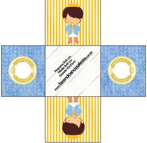 Forminhas Docinhos Quadrada Príncipe Moreno