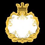 Frame Fundo Príncipe Azul e Dourado