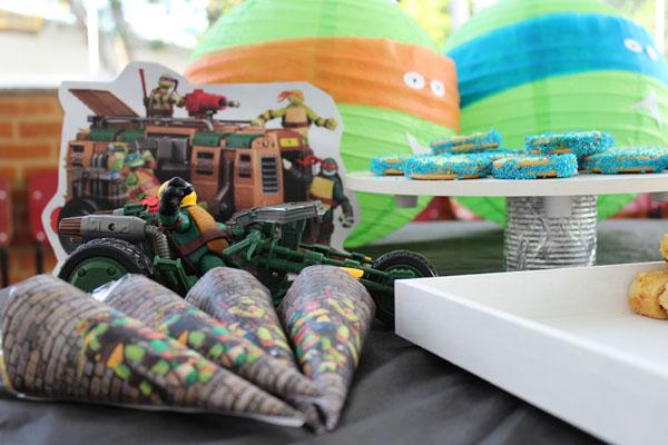 Cone Guloseimas Festa Tartarugas Ninjas do Enzo