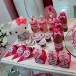 Cone Guloseimas e Caixinhas Festa Hello Kitty da Jéssica