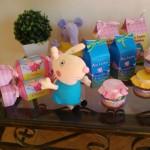 Caixa Bala e Caixa Leite Festa Peppa Pig da Ana Laura