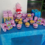 Caixa Bala e Pote Papinha Festa Peppa Pig da Ana Laura