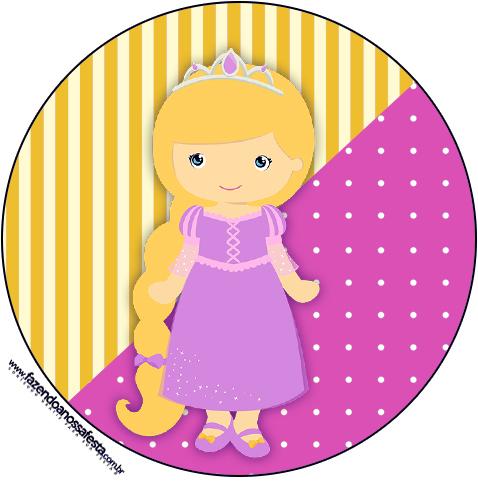 Latinhas, Toppers e Tubetes Princesa Loira