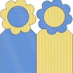Marcador de Páginas Fundo Príncipe Azul e Dourado