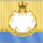 Marmita Fundo Príncipe Azul e Dourado
