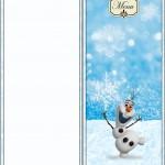 Menu Olaf Frozen