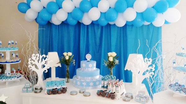 Mesa de Doces Festa Azul Tiffany