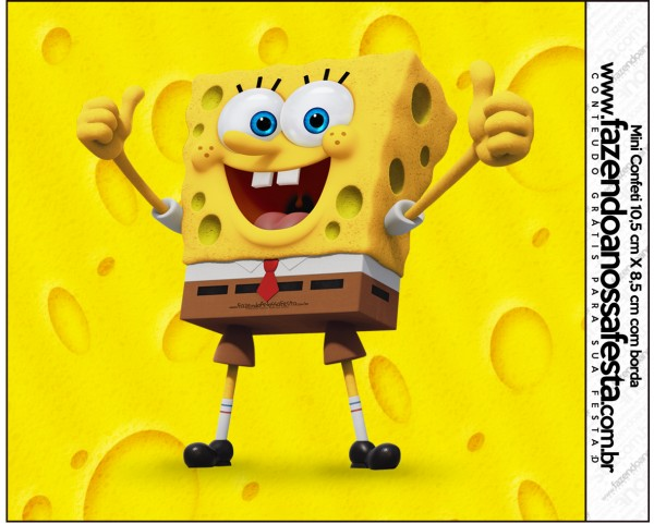 Mini Confeti Bob Esponja - Um Herói Fora D'Água