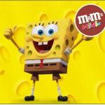 Mini M&M Bob Esponja - Um Herói Fora D'Água