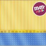 Mini M&M Fundo Príncipe Azul e Dourado