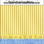Mini Pastilha Docile Fundo Príncipe Azul e Dourado