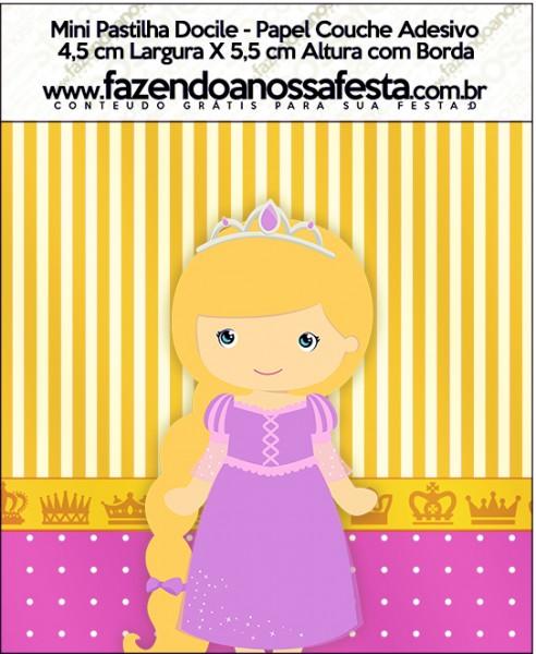 Mini Pastilha Docile Princesa Loira