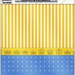 Molde Quadrado Fundo Príncipe Azul e Dourado