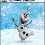 Molde Quadrado Qualquer tamanho Olaf Frozen