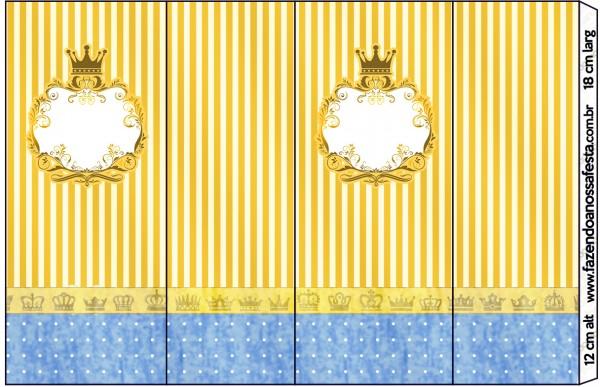 Nescauzinho Fundo Príncipe Azul e Dourado