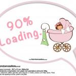 Plaquinhas Divertidas Chá de Bebê Menina 2