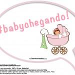 Plaquinhas Divertidas Chá de Bebê Menina 4