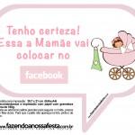 Plaquinhas Divertidas Chá de Bebê Menina 7